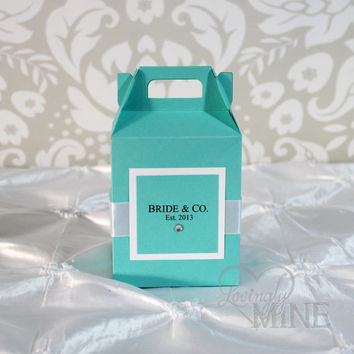 Favors - Tiffany & Co. Inspired Gable Box Favors for Any Event - 1 Dozen - Assembly Required