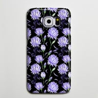 Black Violet Chic Floral iPhone 6 Galaxy s6 Edge Case Galaxy s6 Case Samsung Galaxy Note 5 Case s6-146