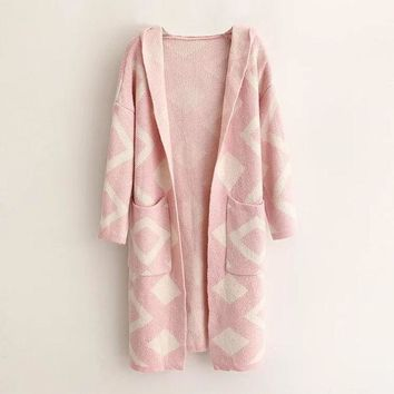 VLX2WL Women's Fashion Korean Geometric Hats Cardigan Sweater [8541327879]