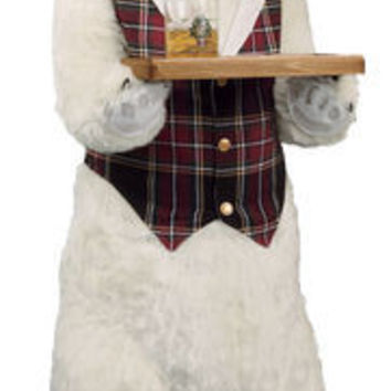 Butler Bear Polar Plaid Merriment by Ditz Designs