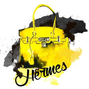 "Hermes Bag 8.5/11"" - Fashion Art Print"