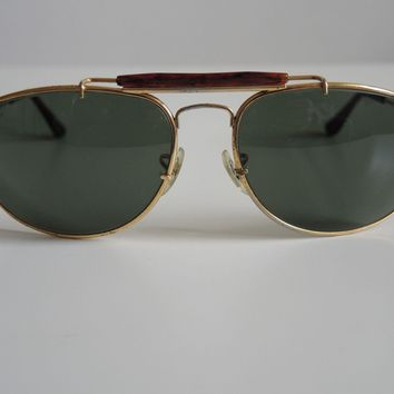Ray-Ban B&L W1708 Vintage Gold Plated Olympic Games Aviator G-15 Sunglasses