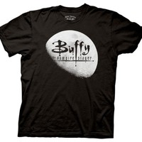 Buffy The Vampire Slayer Moon Logo T-shirt (Medium, Black)