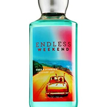Endless Weekend - 3 Piece Bath and Body Works Gift Set - Endless Weekend Lotion + Endless Weekend Ultra Shea Triple Moisture Cream + Endless Weekend Shower Gel