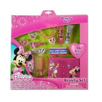 Disney Minnie Mouse Bow-tique 16 piece Beauty Set Asst of Jewelry, Hair Acc. & coin pouch