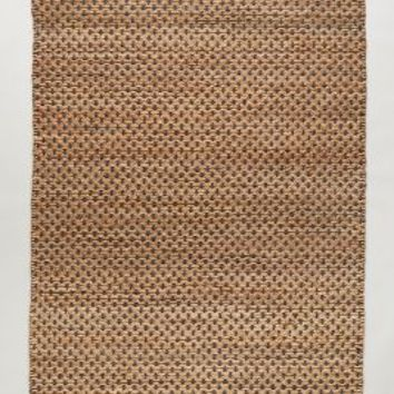 Raw-Edged Flatweave Rug by Anthropologie
