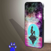 In The Moon light Nebula Space Ariel The Little Mermaid for iphone 4/4s/5/5s/5c/6/6+, Samsung S3/S4/S5/S6, iPad 2/3/4/Air/Mini, iPod 4/5, Samsung Note 3/4 Case **