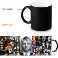 Nirvana mug 12 OZ/350ml morphing coffee mugs novelty heat changing color transforming Tea Mugs