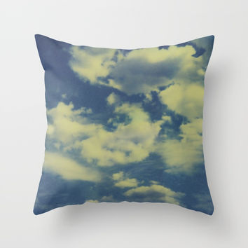 Instant Series: Clouds II Throw Pillow by Short Circuits & Folding Mirrors