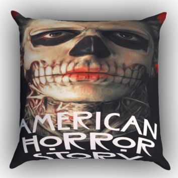 American Horror Story face Zippered Pillows  Covers 16x16, 18x18, 20x20 Inches