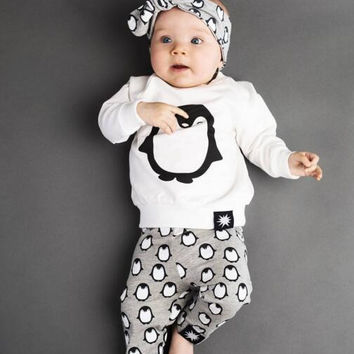 Retail 2016 baby boy and girl clothes Autumn with virgin suit infant garment 3pcs 0-2 years old  children's clothing baby clothe