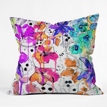 Holly Sharpe Lost In Botanica 1 Outdoor Throw Pillow