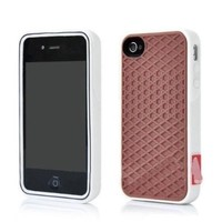 Generic New Iphone 5 Brown white Silicone Waffle Shoe Case Cover for Apple Iphone 5 5s Vans Style+screen Protector