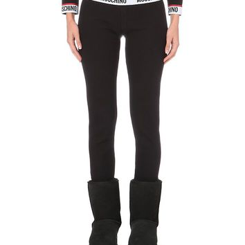 MOSCHINO - Ribbed cotton leggings | Selfridges.com