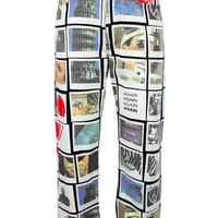 Moschino Vintage postcard print trousers