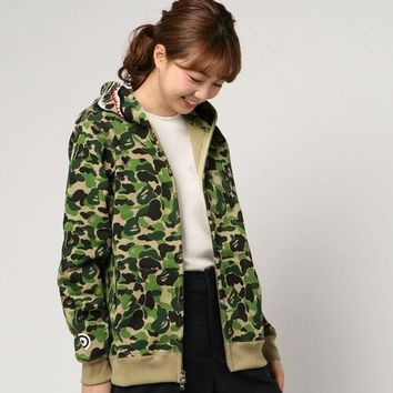 Camouflage Hoodies Classics Hip-hop Couple Hats Jacket [1003070521380]