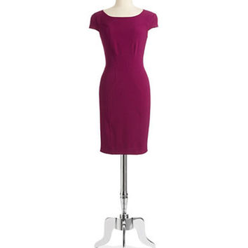 Chetta B Cap Sleeved Sheath Dress