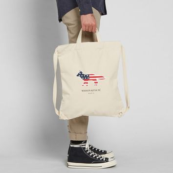 Maison Kitsuné America Canvas Backpack
