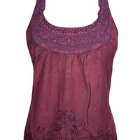 Womens Sexy Maroon Halter Tank Top Casual Comfy Summer top S: Amazon.ca: Clothing & Accessories