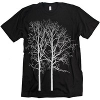TREES Tshirt Goth Graphic tee MENS Black