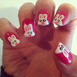 Easter Bunny acrylic nails  by CoccoNails on Etsy