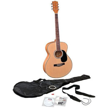 EMEDIA MUSIC EG07108 Teach Yourself Acoustic Guitar Pack with Full-Size Guitar