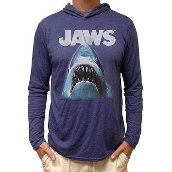 Jaws Shark Hooded Long Sleeve Adult Tee