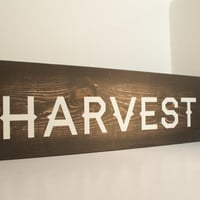 Harvest wood sign - Fall wood sign, rustic fall, Rustic Thanksgiving, Fall decoration, Thanksgiving decor, Rustic home decor, fall mantel
