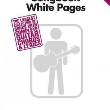 CREYCY2 Guitar Chord Songbook White Pages: The Largest Collection of Songs With Complete Guitar Chords & Lyrics