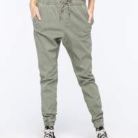 Rusty Hooky Womens Jogger Pants Army  In Sizes