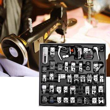 42pcs Sewing Machine Presser Foot Set Hem Foot Spare Parts Accessories for Brother Singer