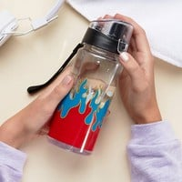 Monki Fire Printed Water Bottle at asos.com