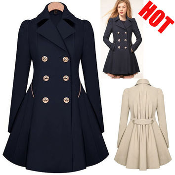 Especially Trench Coats for Women Long Double Breasted Slim female Wind breaker Outerwear Sobretudo Feminino Spring Autumn 2016