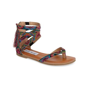 Steve Madden Multi Crown Flat Girls Sandal (Kids)