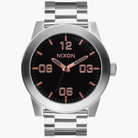 Nixon Corporal Ss Watch Gray/Rose Gold One Size For Men 25573438101