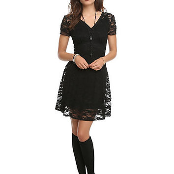 Royal Bones By Tripp Black Lace Dress