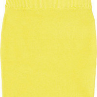 T by Alexander Wang | Neon knitted stretch cotton-blend skirt | NET-A-PORTER.COM