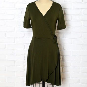 Lark Wrap Front Skater Dress-FINAL SALE