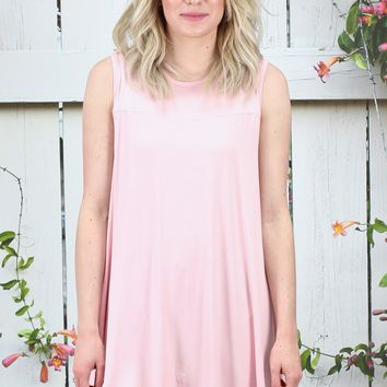 Oversized Swing Tunic Tank {Blush}