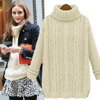 Knit Tops Pullover Thicken Sweater [9582838543]