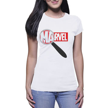 Ants Marvel  Womens T Shirts Black And White