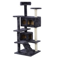 New Cat Tree Tower Condo Furniture Scratch Post Kitty Pet House Play Gray