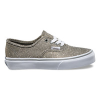 Kids Glitter Textile Authentic | Shop Girls Shoes at Vans