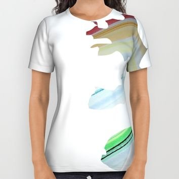 Broken Rainbow All Over Print Shirt by Jveart
