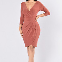 Tulip Dress - Marsala