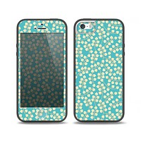 The Blue and Yellow Floral Pattern V43 Skin Set for the iPhone 5-5s Skech Glow Case
