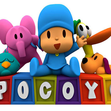 Pocoyo Image, Pocoyo Cutout,Pocoyo and Friends Image, Pocoyo aand Friends Cutout, Pocoyo Template,Large Pocoyo and Friends,TV Cartoon Cutout