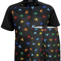 Lucky 13 Multi-color Men's Polo & Golf Shorts (Multicolor)