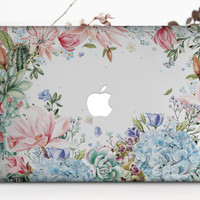 Succulents Case Macbook Floral Macbook Pro Hard Case Tropical Flowers Macbook Air Case Macbook Air Hard Case 15 Macbook Pro Laptop Case m025
