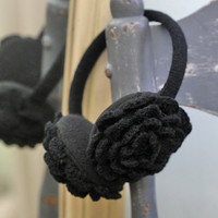 florentine crochet earmuffs in black - $12.99 : ShopRuche.com, Vintage Inspired Clothing, Affordable Clothes, Eco friendly Fashion